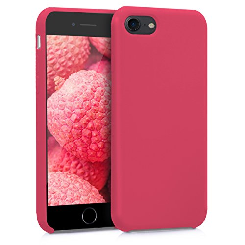 kwmobile Funda Compatible con Apple iPhone 7/8 / SE (2020) - Carcasa de TPU para móvil - Cover Trasero en Fucsia/Rojo
