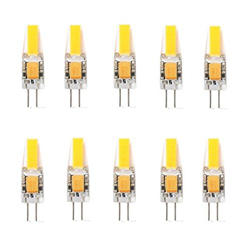 WELSUN 3W G4 COB LED Ampoule 1 COB 200-250 LM Blanc Chaud/Blanc Froid/Blanc Naturel Décorative/EtanchesDC 12 / AC 12 / AC 24 / DC (Light Source Color : Warm White, Voltage : AC12V)