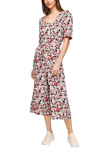 Q/S designed by - s.Oliver Damen Overall mit Allover-Print apricot AOP 38