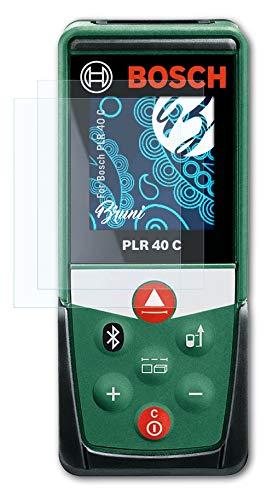 Bruni Schutzfolie kompatibel mit Bosch PLR 40 C Folie, glasklare Displayschutzfolie (2X)