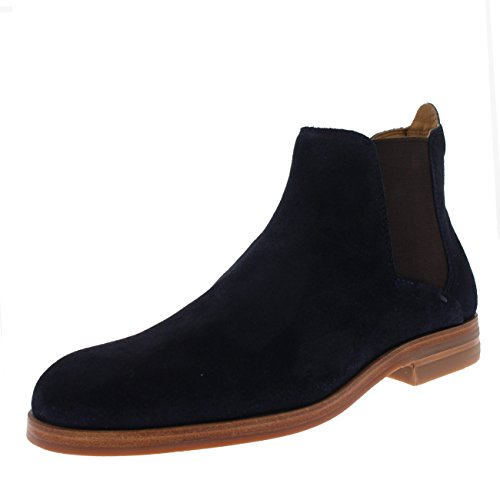 H by Hudson Mens Tonti Smart Dealer Suede Ankle Casual Chelsea Boots - Navy - 9