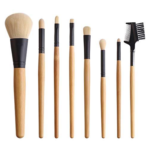 8 Outil de maquillage Brosses, Convient pour Poudre Ombre Foundation, Ombre à paupières, rouge à lèvres Sourcils, doux et pas facile à Déformer