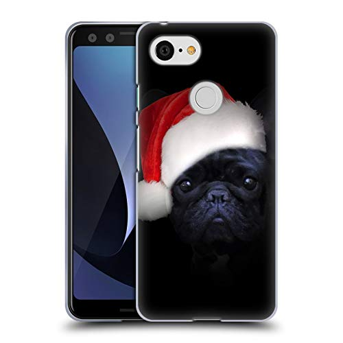 Head Case Designs Officially Licensed Klaudia Senator Christmas Hat French Bulldog 2 Soft Gel Case Compatible with Google Pixel 3
