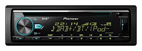 Pioneer DEH-X7800DAB , 1DIN Autoradio , CD-Tuner mit RDS , FM und DAB/DAB+ Tuner , CD , Bluetooth , MP3 , USB , AUX-Eingang , Bluetooth Freisprecheinrichtung , Kompatibel mit Android und iPod/iPhone