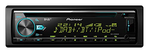 Pioneer DEH-X7800DAB, 1DIN autoradio, CD-tuner met RDS, FM en DAB/DAB+ tuner, CD, bluetooth, MP3, USB, AUX-ingang, Bluetooth handsfree, compatibel met Android en iPod/iPhone