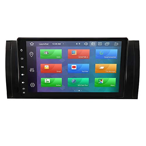 hizpo 4+64G Android 10 Autoradio per bmw 5 Series E39/X5 E53/ M5/7 Series E38 per bmw Radio Bluetooth Comandi al Volante 1080P HD GPS Navi DVR DSP 4G USB Wifi Retrocamera Ingresso DAB Pulsanti LED