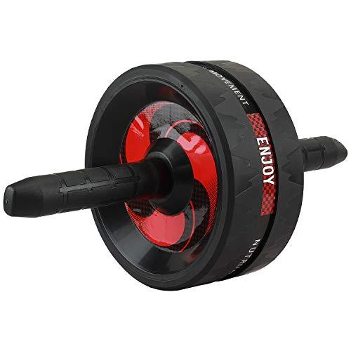Tioamy Rodillo de Abdominales ABS Rueda Roller AB Wheel Entrenador Muscular para Brazos Espalda Vientre Forma del Cuerpo Central Formación Aptitud Ejercicio Gimnasio Accesorio