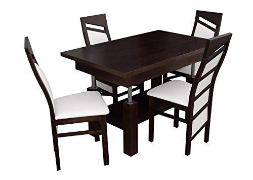 Mirjan24 Esstisch Stuhl Set RB39 Essgruppe, Tischgruppe, Sitzgruppe Esstischgruppe, Esszimmergarnitur (Nuss, Soft 017)