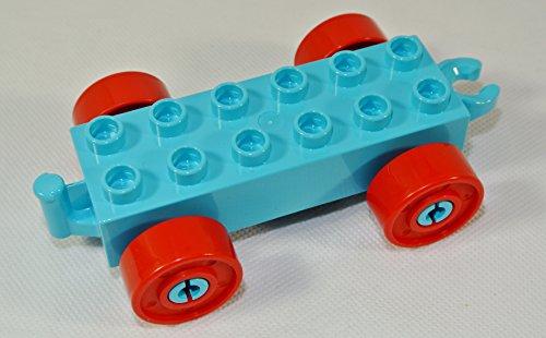 Bausteine gebraucht Anhänger, Auto, 2x6, blautürkis (Lego Duplo Custom Set)