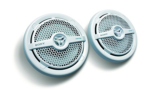 Sony XSMP1621 6 1/2-Inch coaxial 2-way Marine Speaker,White