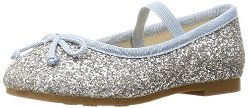 [オリエンタルトラフィック] キッズ バレエシューズ 子供用 女の子 軽い 履きやすい 歩きやすい 一人で履ける イベント 靴 K-902 SILVER 16 cm E
