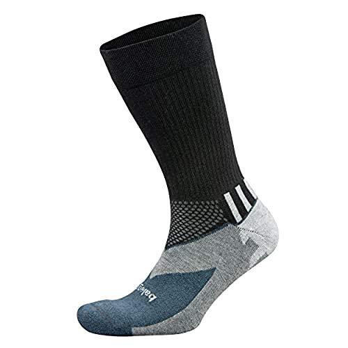 Price comparison product image Balega Enduro V-Tech Crew Socks For Men and Women (1 Pair),  Black / Grey Heather,  Large