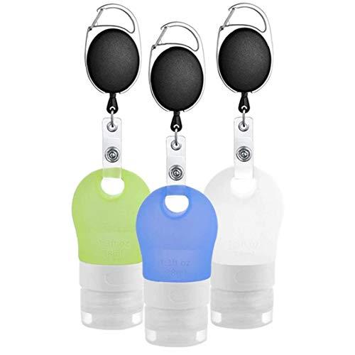 MICHAELA BLAKE Bewegliche Silikon-Reisen Flaschen Set, tragbare Reise Kunststoff leeren Leakproof Flaschen Squeezable Schlauch Sets Kosmetik Kulturbehälter Shampoo Lotion Soap