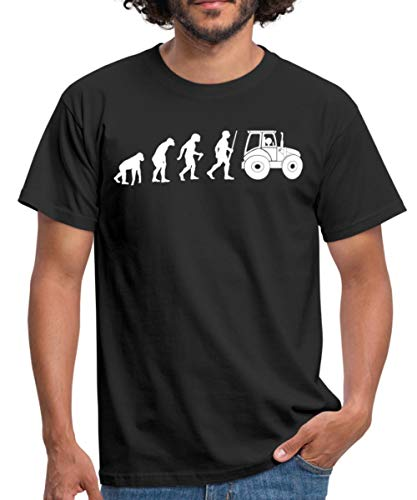 Landwirt Evolution Traktor Traktorfahrer Männer T-Shirt, 3XL, Schwarz