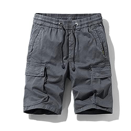 Pantalones Cortos Deportivos versátiles Informales de Verano para Hombre para Entrenar, Correr y ejercitarse 31