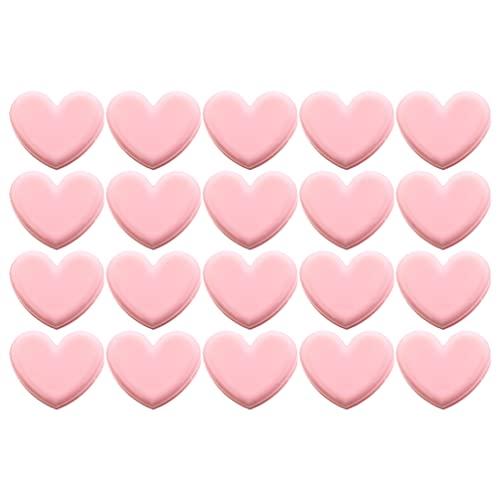 STOBOK 20 clips de plástico para fotos con forma de corazón, color rosa, pinzas para manualidades, para fotos, fotos, fotos, etc