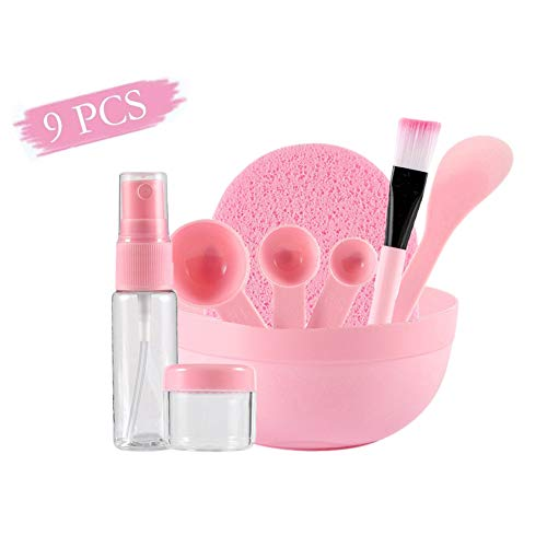 Bol de Masque, KISSION 9Pcs Cuiller Brosse Cosmétique DIY Masque Outils Maquillage