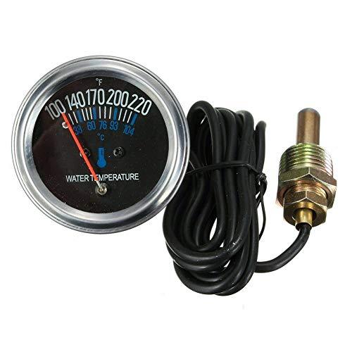 ller76 Water Temperature Gauge Car 38-104℃ Yellow Light Instrument Universal Accessories 52mm Mechanical Engine DC 12V Pointer Meter Auto und