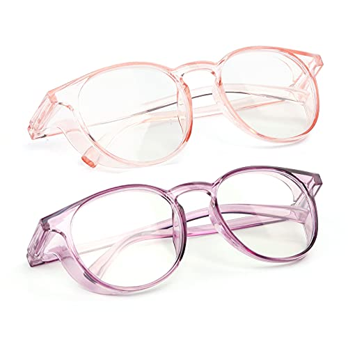 2 Pack Anti Fog Saftey Goggles Anti Fog Safety Glasses for Women Eye Goggles Safety protection Blue Light Blocking Glasses safety glasses for men