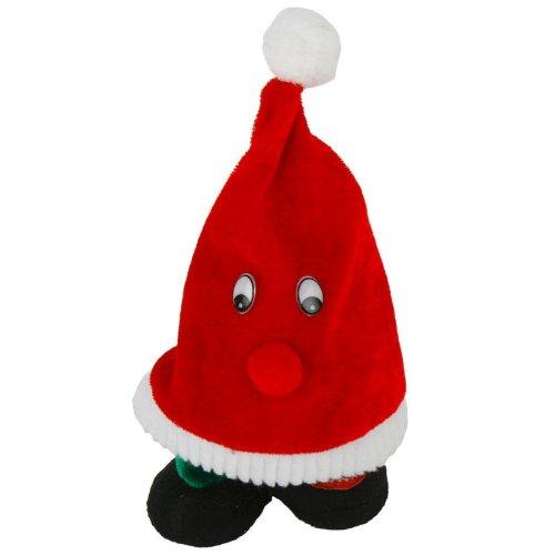Weihnachtsmütze SINGEND UND GEHEND H 20 cm