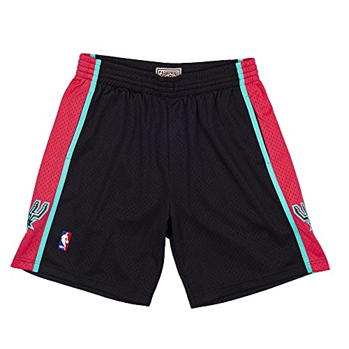 Mitchell & Ness NBA Reload Swingman - Pantaloncini Sa Spurs, nero XL