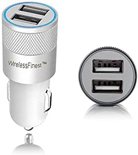 Dual Port 3.1A USB Car Charger Adapter for Apple iPhone 7/7Plus/6S/6SPlus/6/6Plus/5s/5c/5/4s/4, Apple iPad Pro/4/3/2/Mini/Air/2, Apple iPod, Samsung Galaxy S6/S5/S4/ S3/Tab 4 Smartphone (White)