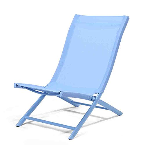 YYHSND Simple Office Folding Chair Lazy Back Beach Chair Home Balcony Casual Lunch Break Chair Folding chair (Color : Blue)