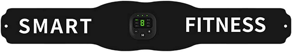 Abaodam 1 Set van USB Opladen Fitness Taille Riem Buikoefening Riem Smart Fitness Euipment Zwart