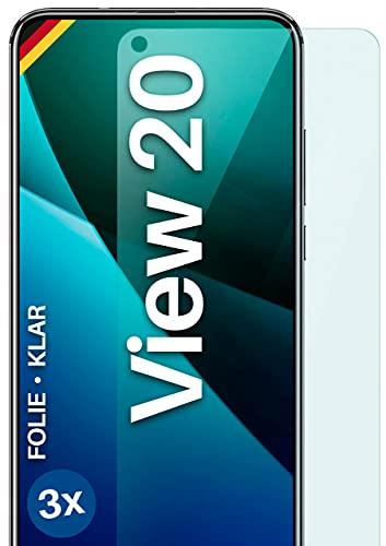 moex Klare Schutzfolie kompatibel mit Huawei Honor View 20 - Bildschirmfolie kristallklar, HD Bildschirmschutz, dünne Kratzfeste Folie, 3X Stück