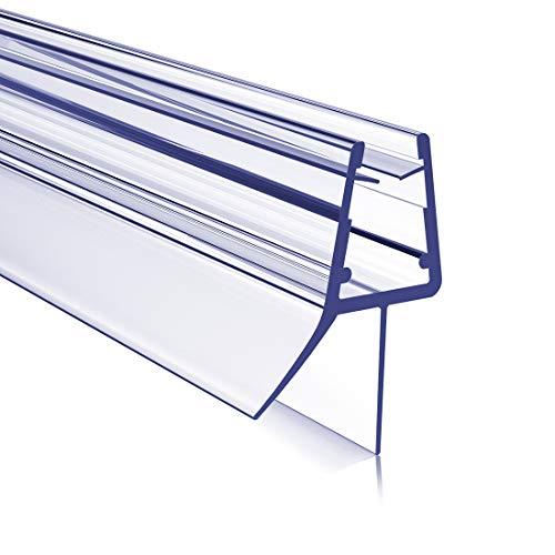 Duschdichtung Ersatzdichtung Duschtür Dichtung 80cm mit verlängerten Gummilippen, Bodendichtung Schwallschutz Dichtkedermit Wasserabweiser für Duschkabine Duschwand Glas mit Glasstärke 4-6mm
