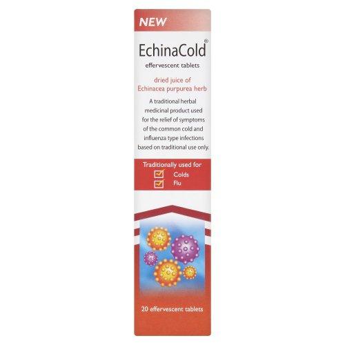 Schwabe Pharma EchinaCold Echinacea Purpurea Herb -Pack of 20 effervescent tablets