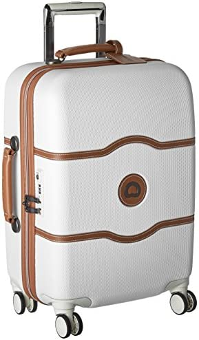 DELSEY Paris Chatelet Hardside Luggage with Spinner Wheels, Champagne White, Carry-on 21 Inch, with Brake