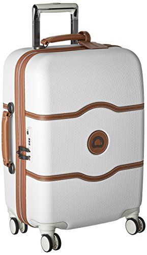 DELSEY Paris Chatelet Hard+ Hardside Carry-on Spinner Suitcase, Champagne White, 21-Inch