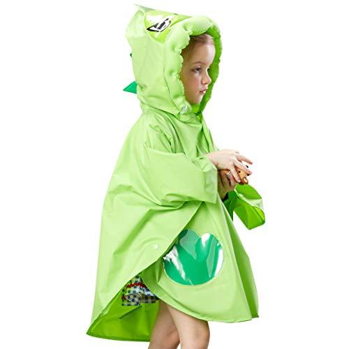 Kinderen Regenjassen Peuter Jongens Meisjes Regen Poncho Lichtgewicht Regenjas Herbruikbare Waterdichte Cape S (For Height 80-90cm) Groen