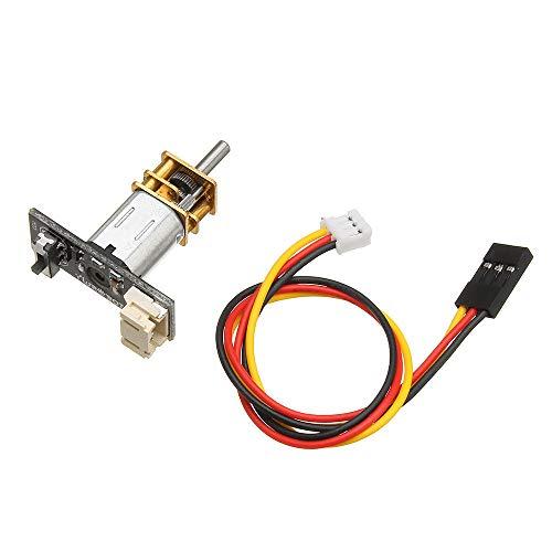 Módulo electrónico N20 DC Motor W/Módulo + Línea Kit DIY para Smart Robot Soporte de automóvil Rotación hacia adelante/Rotación inversa 5V 300RPM Equipo electrónico de alta precisión