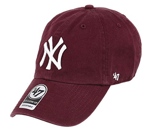 '47 New York Yankees Gorra, (Dark Maroon), (Talla del Fabricante: Talla única) Unisex Adulto