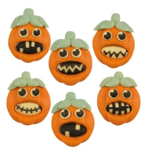 Günthart Zuckerkürbisse | Tortendeko Halloween | essbare Halloween Deko | Fasching | Zuckerfiguren Halloween | 18 St