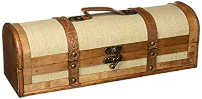 Twine 0308 Chateau Two Bottle Antique Wooden Wine Box Brown