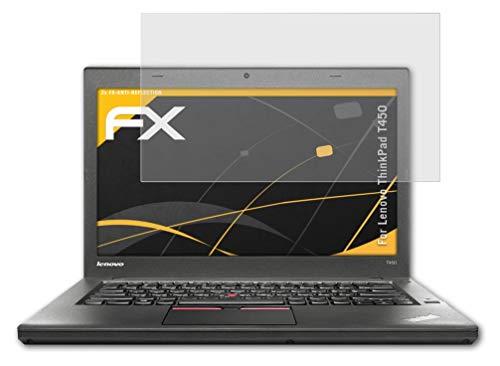 atFolix Panzerfolie kompatibel mit Lenovo ThinkPad T450 Schutzfolie, entspiegelnde & stoßdämpfende FX Folie (2X)