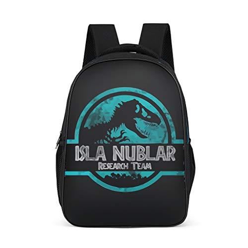 Fineiwillgo Isla Nublar - Mochila con diseño de equipo de investigación, bolsa para libros práctica para adolescentes, color gris, talla única