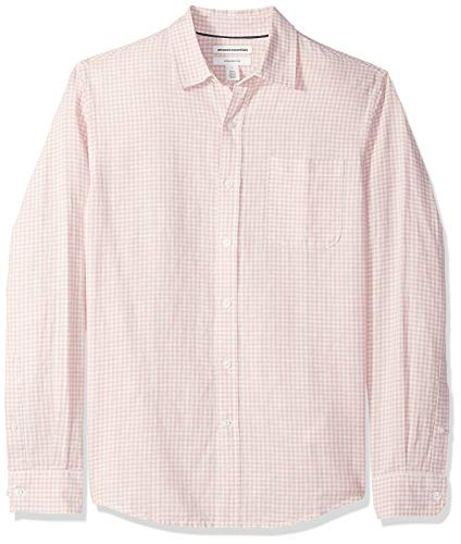 Amazon Essentials - Camisa de lino con manga larga, corte en