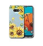 Starhemei for LG Harmony 4 Case,LG Premier Pro Plus Case,Slim TPU Soft Shell Ultra Thin Flexibility Bumper Rubber Case Cover for LG Harmony 4 (Cricket) (Sunflower)
