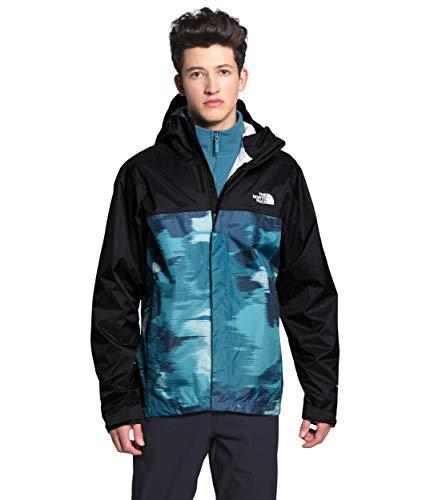 The North Face Men's Venture 2 Jacket, Mallard Blue Vapor Ikat Print/TNF Black, M