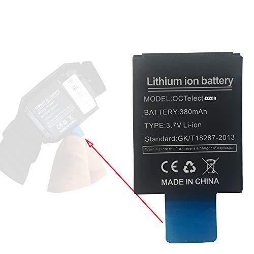 OCTelect Wiederaufladbare Lithium-Batterie DZ09 Smartwatch -Akku mit 380mAh Kapazität