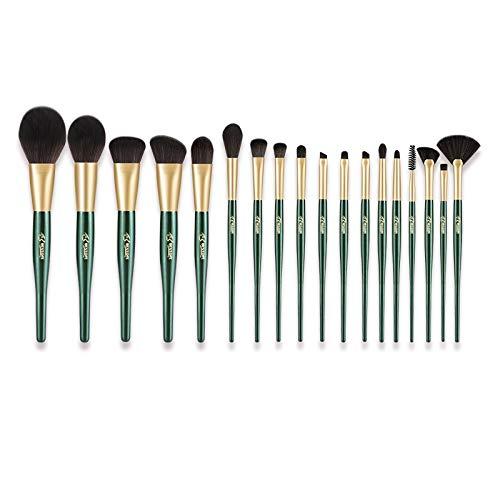 Perfect diary Pinceaux de Maquillage 18 pinceaux de Maquillage synthétique de Haute qualité utilisés dans la Base de pinceaux Vert Malachite A ++