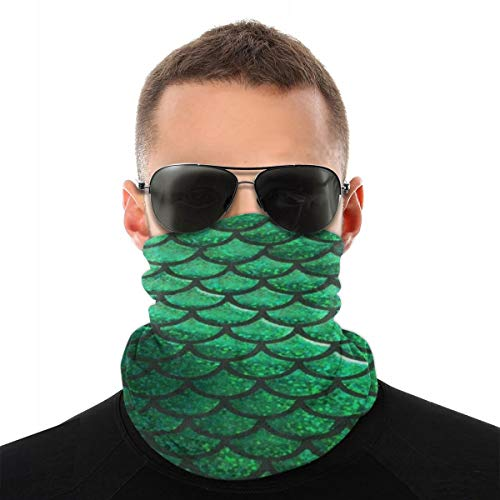 EU slangenprint vis lichtgroen sjaal kleurrijk hoofd turban magische sluier hoodmultifunctie voor mannen en vrouwen