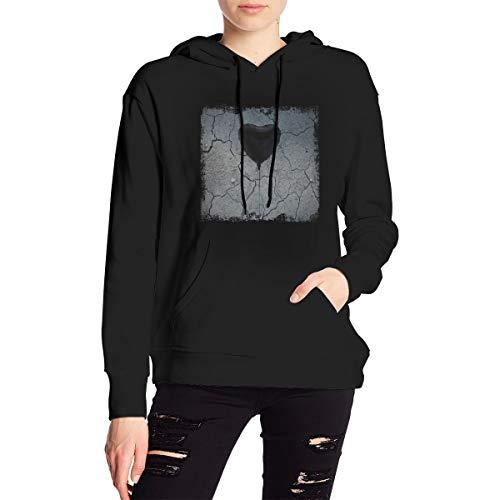 The Amity Affliction Misery Womens Long Sleeve Hoodie Sweatshirt Drawstring Pocket Pullover Clothing Black