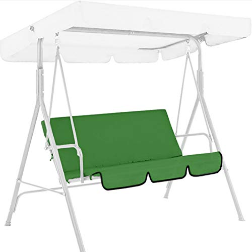 DQYFZQ Outdoor Swing 3-Seat Chair Waterproof Cushion Replacement Swing Seat Cover Patio Swing Chair Protection Cover Outdoor for Patio Garden Yard,Green,150 * 50 * 10cm