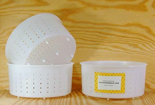 3x Queso Forma 15x 4,3–1.2Kg–caciotta–Queso Formas | cesta | Queso | Lab