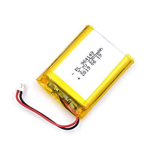 AKZYTUE 3.7V 2300mAh 964149 Lipo Battery Rechargeable Lithium Polymer ion Battery Pack with JST Connector